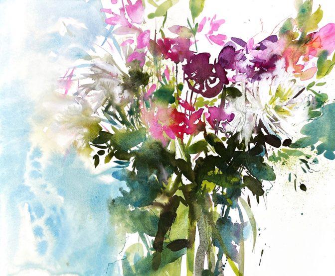 Scentsation watercolour painting
