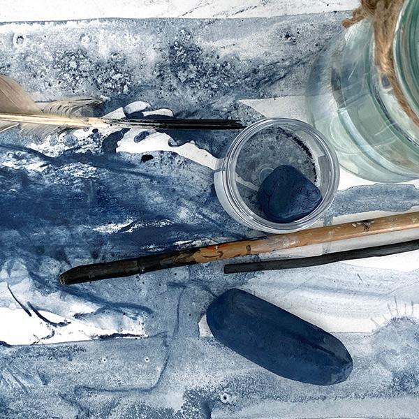 art workshop using indigo